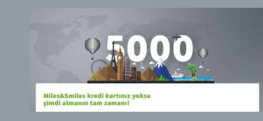 Miles&Smiles 5000 Hoş Geldin Mili