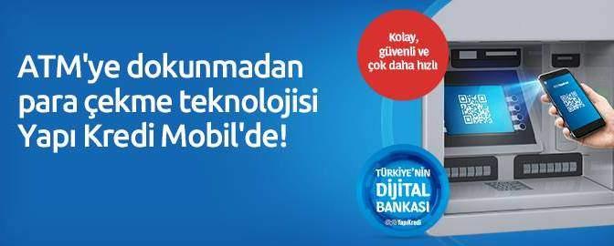 ATM'ye Dokunmadan Para Çekme Teknolojisi