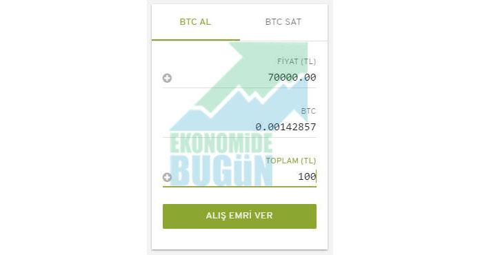 Bitcoin nasıl satın alınır veya satılır adım 9